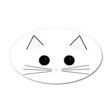 Kitty Face 35x21 Oval Wall Peel
