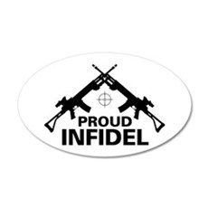 Infidel 20x12 Oval Wall Peel