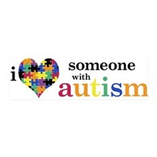 I HEART Someone with Autism - 36x11 Wall Peel