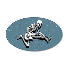 Skeleton Guitarist Jump 20x12 Oval Wall Peel