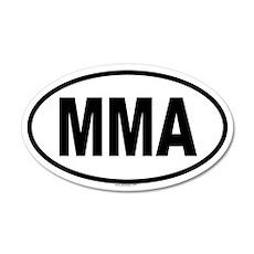 MMA 20x12 Oval Wall Peel