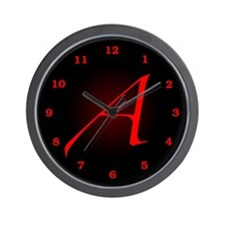 Atheist 'A' Wall Clock