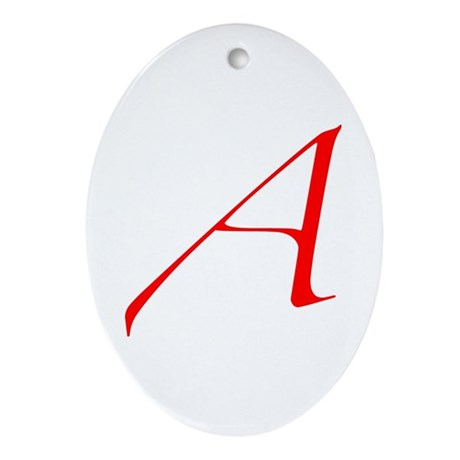 Atheist 'A' Ornament (Oval)