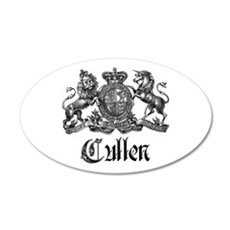 Cullen Family Name Crest 20x12 Oval Wall Peel