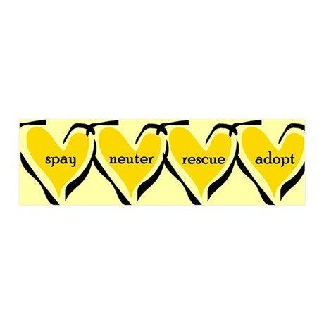 Spay Neuter Rescue Adopt Yellow 36x11 Wall Peel