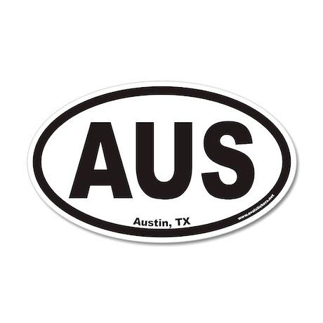Austin Texas AUS Euro 20x12 Oval Wall Peel