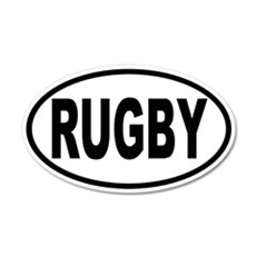 RUGBY 20x12 Oval Wall Peel