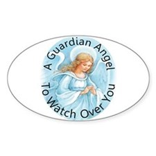 A guardian angel to watch ove Decal
