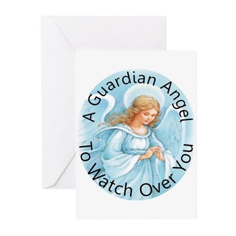 A guardian angel to watch ove Greeting Cards (Pk o