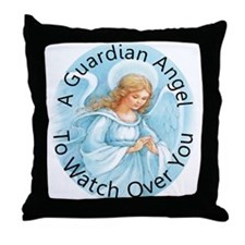 A guardian angel to watch ove Throw Pillow