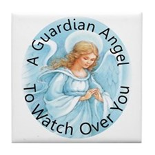 A guardian angel to watch ove Tile Coaster
