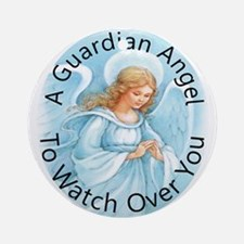 A guardian angel to watch ove Ornament (Round)