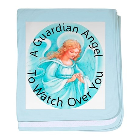 A guardian angel to watch ove baby blanket