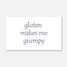 gluten makes me grumpy 20x12 Wall Peel