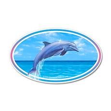 Dolphin car bumper sticker decal 20x12 Oval Wall P