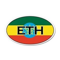 Ethiopia Flag 20x12 Oval Wall Peel