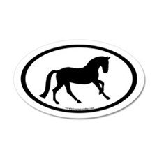 Canter Horse Oval 35x21 Oval Wall Peel