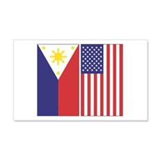 Philippine & US 20x12 Wall Peel