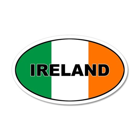 Flag of Ireland 35x21 Oval Wall Peel