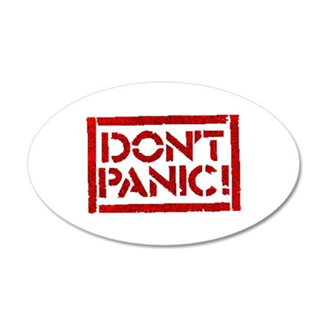 Hitchhiker - Don't Panic! 35x21 Oval Wall Peel