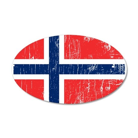 Vintage Norway 20x12 Oval Wall Peel