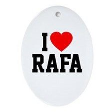 I Love Rafa Ornament (Oval)