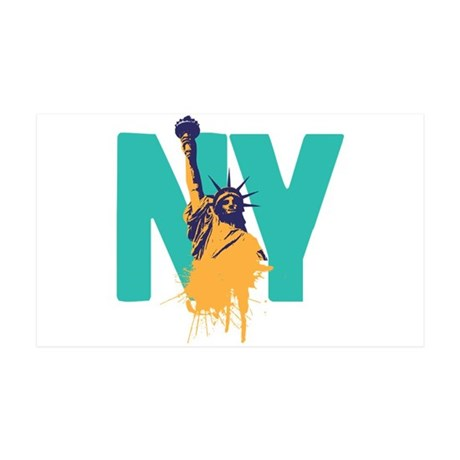 New York Lady Liberty 35x21 Wall Peel