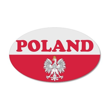 Poland Sticker-v2 35x21 Oval Wall Peel