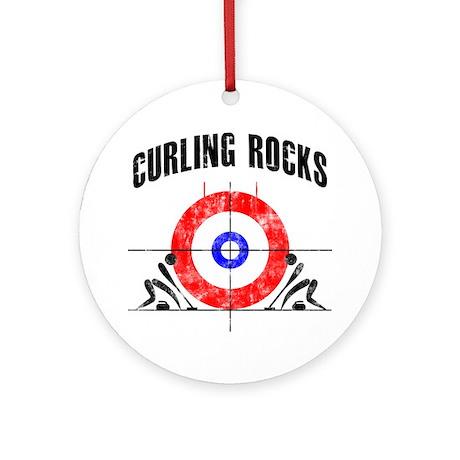 Curling Rocks! Ornament (Round)