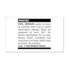 Evil Genius Personal Ad 20x12 Wall Peel
