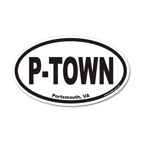 Portsmouth Virginia P-TOWN Euro 20x12 Oval Wall Pe