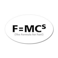 Formula for Fun 35x21 Oval Wall Peel