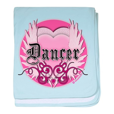 Dancer with Heart by DanceShirts.com baby blanket