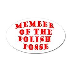 Member of the Polish Posse 20x12 Oval Wall Peel