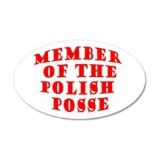 Member of the Polish Posse 35x21 Oval Wall Peel