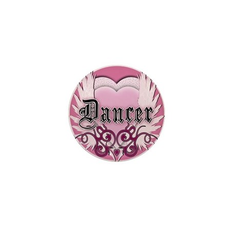 Dancer with Heart by DanceShi Mini Button (10 pack