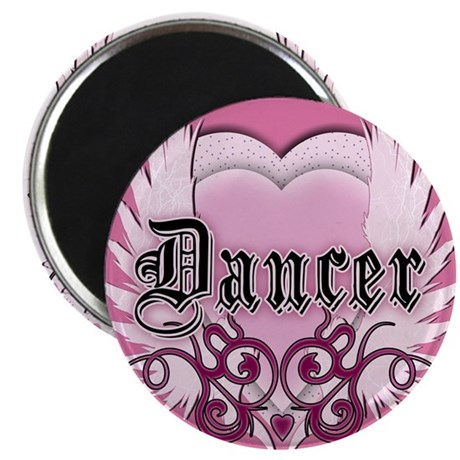 "Dancer with Heart by DanceShi 2.25"" Magnet (1"