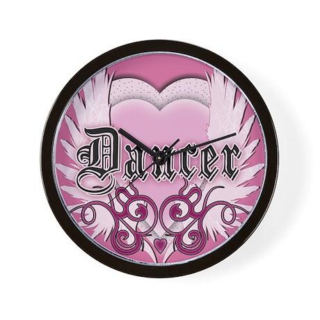 Dancer with Heart by DanceShi Wall Clock