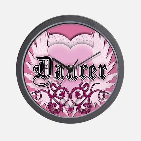Dancer with Heart by DanceShi Wall Clock