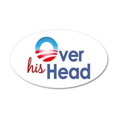 Obama Over His Head 20x12 Oval Wall Peel