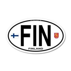 Finland Euro Oval 20x12 Oval Wall Peel