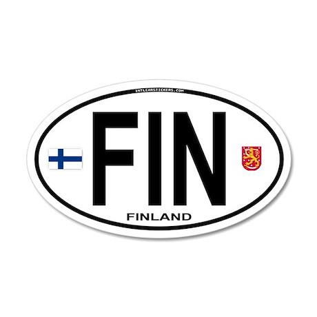 Finland Euro Oval 35x21 Oval Wall Peel