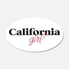 California girl (2) 20x12 Oval Wall Peel