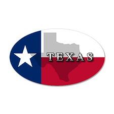 Texas Flag Extra 20x12 Oval Wall Peel
