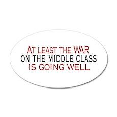 War on Middle Class 20x12 Oval Wall Peel