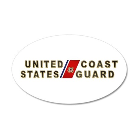 USCG 20x12 Oval Wall Peel