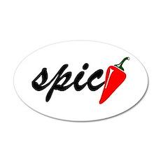 Spicy 20x12 Oval Wall Peel