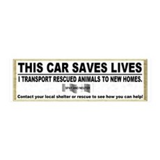 """This car saves lives"" 36x11 Wall Peel"