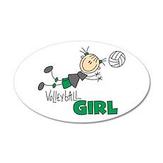Volleyball Girl 20x12 Oval Wall Peel