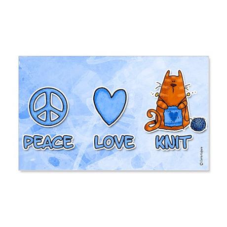 peace, love, knit 20x12 Wall Peel